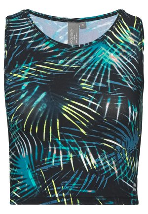 GRAVITY RUNNING VEST - Topper - black/neon tropical