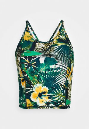 CONTOUR CROPPED WORKOUT VEST - Top - green
