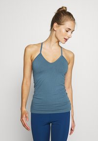Sweaty Betty - NAMASTE SEAMLESS YOGA - Top - stellar blue - 0