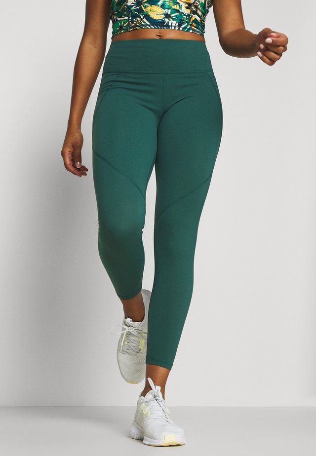 POWER SCULPT 7/8 WORKOUT LEGGINGS - Tights - june bug green