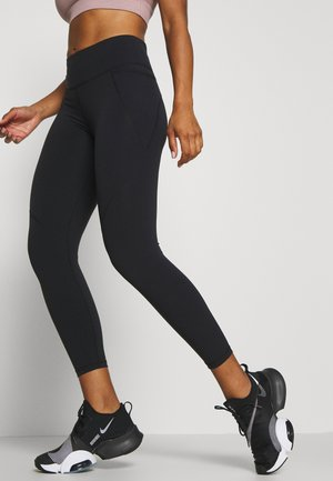 POWER SCULPT 7/8 WORKOUT LEGGINGS - Tights - black