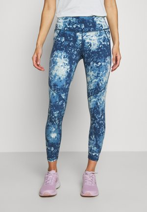 POWER SCULPT WORKOUT LEGGINGS - Tights - beetle blue