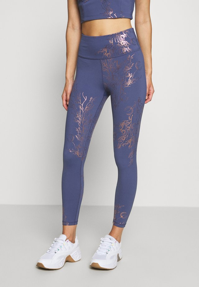 7/8 WORKOUT LEGGINGS - Collant - crown blue/bronze