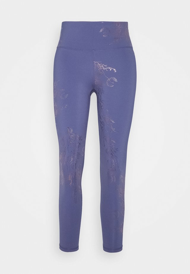 7/8 WORKOUT LEGGINGS - Leggings - crown blue/bronze