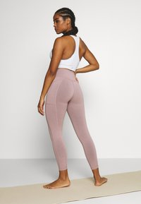 Sweaty Betty - SUPER SCULPT 7/8 YOGA LEGGINGS - Legging - velvet rose/pink - 2