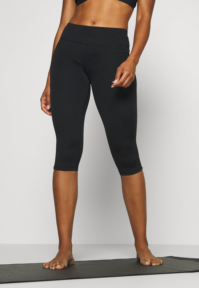 CONTOUR CAPRI WORKOUT LEGGINGS - 3/4 sportsbukser - black