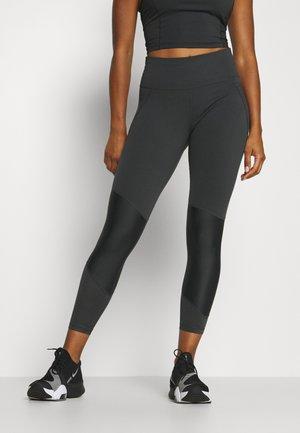 POWER SCULPT COLOUR BLOCK WORKOUT LEGGINGS - Legging - slate grey