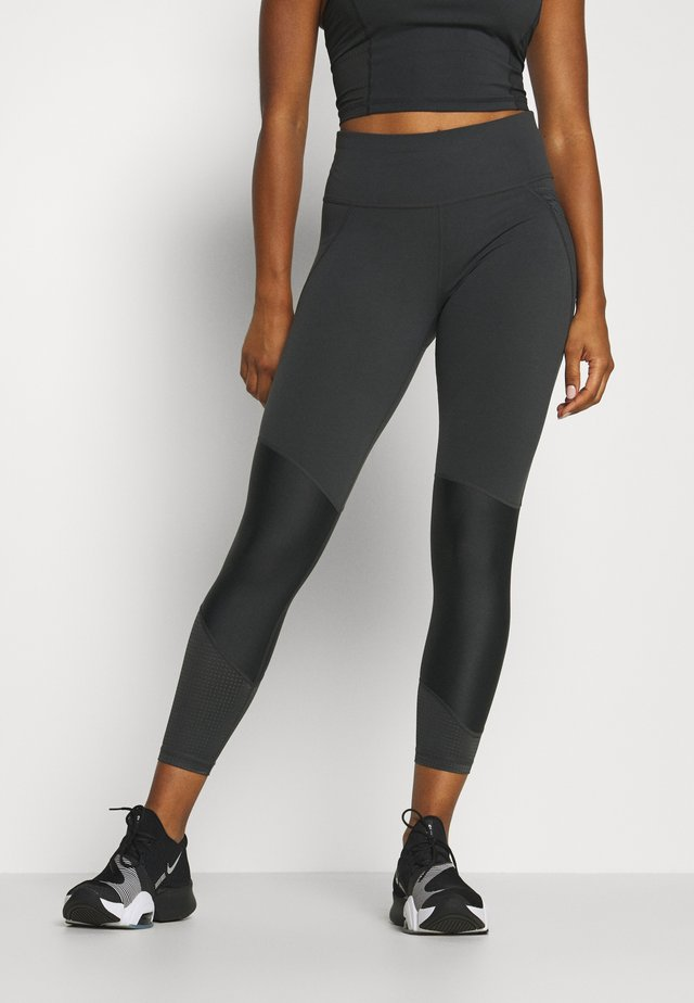 POWER SCULPT COLOUR BLOCK WORKOUT LEGGINGS - Tights - slate grey