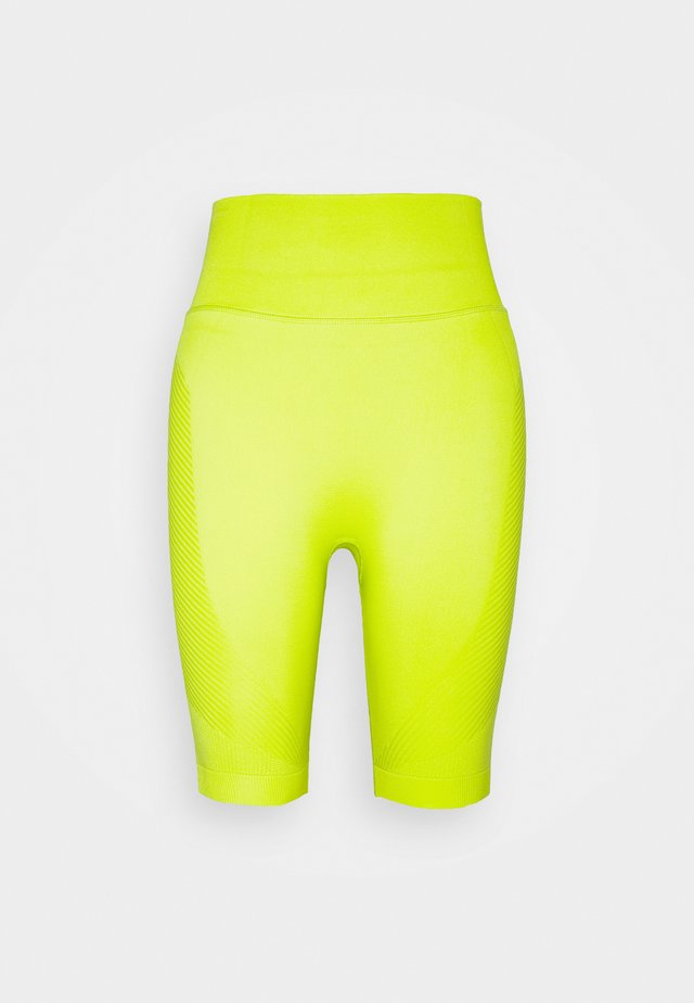 SPIN SEAMLESS LONGLINE WORKOUT SHORT - Collants - lime punch green