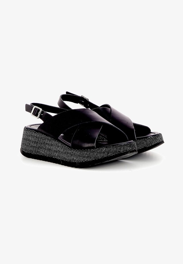 LILAR - Sandalen met sleehak - black