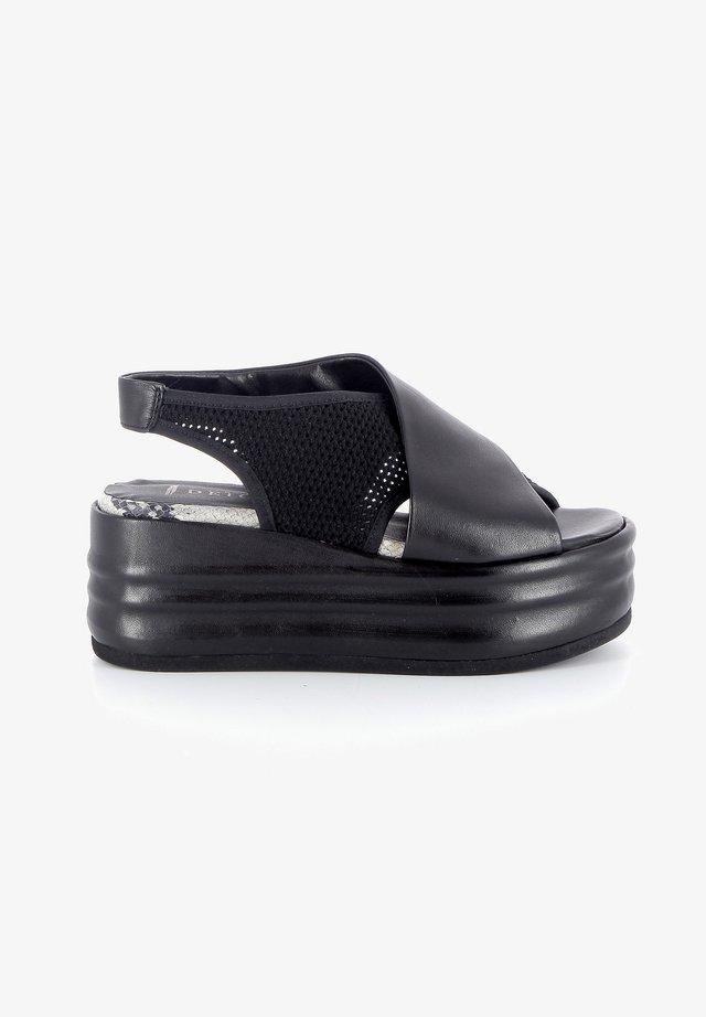DJENNA - Sandales compensées - black