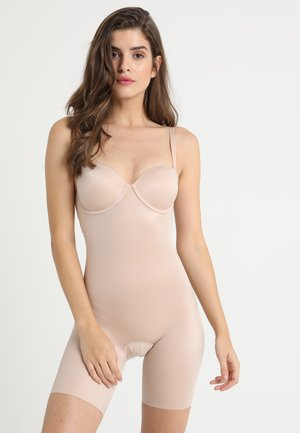 SUIT YOUR FANCY STRAPLESS CUPPED MID-TIGH BODYSUIT - Body - champagne beige