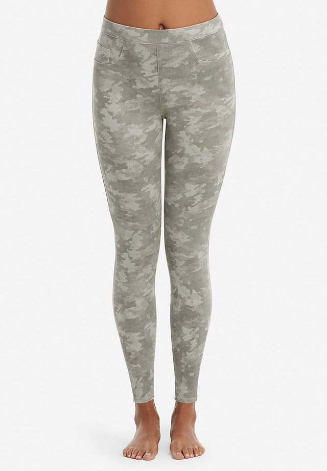 ANKLE JEAN-ISH - Leggings - stone washed camo