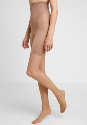 HIGH WAIST SHAPING SHEERS - Tights - beige