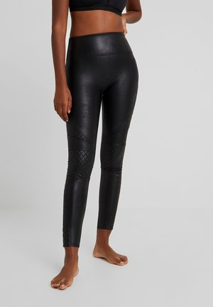 QUILTED - Legging - very black