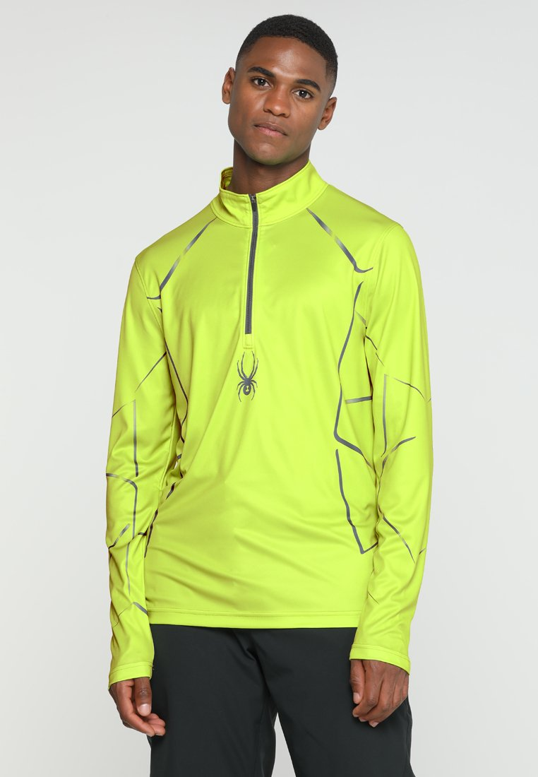Spyder - LIMITLESS LINES ZIP T-NECK - Sportshirt - yellow