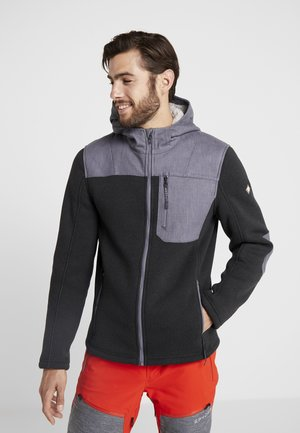 ALPS FULL ZIP HOODIE - Fleecejacka - black