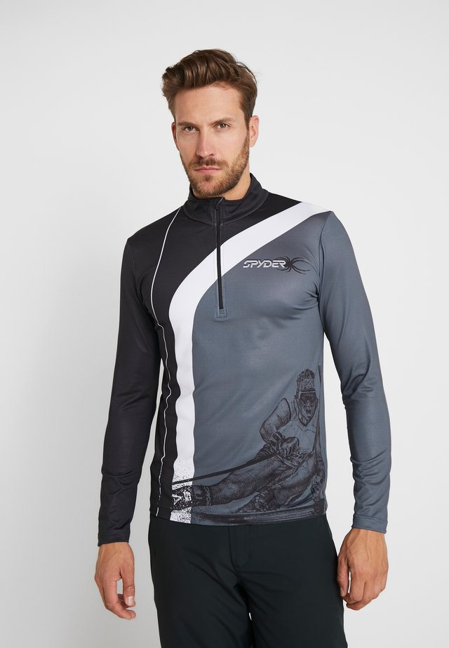 RIVAL - Long sleeved top - black/white