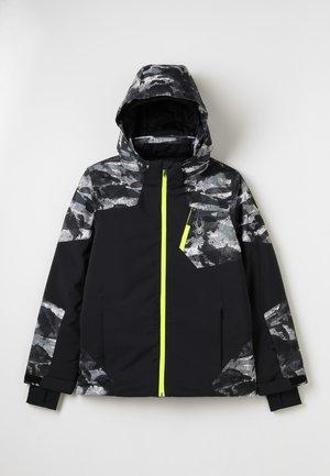 CHAMBERS - Ski jacket - black/camo distress print/bryte yellow