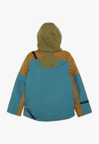 Spyder - BOYS TORDRILLO - Lyžařská bunda - turquoise/camel - 1