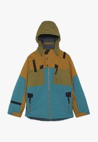 Spyder - BOYS TORDRILLO - Lyžařská bunda - turquoise/camel - 0