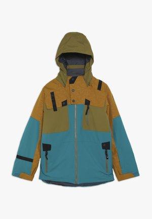 BOYS TORDRILLO - Lyžařská bunda - turquoise/camel