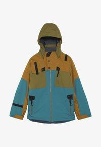 Spyder - BOYS TORDRILLO - Lyžařská bunda - turquoise/camel - 4
