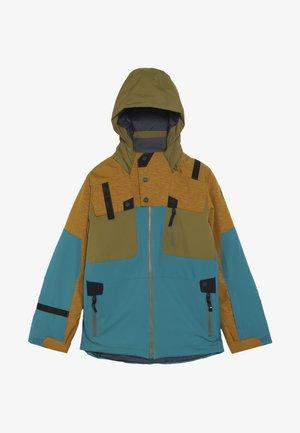 BOYS TORDRILLO - Ski jas - turquoise/camel