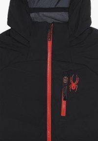 Spyder - BOYS IMPULSE - Lyžařská bunda - black - 5
