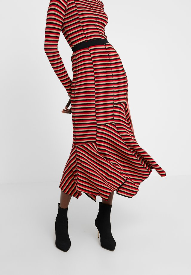 A-line skirt - topaze/noir/carmin