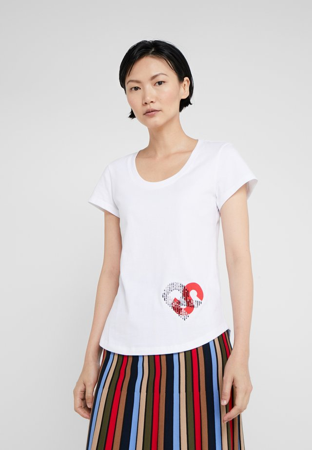 T-shirt con stampa - blanc casse
