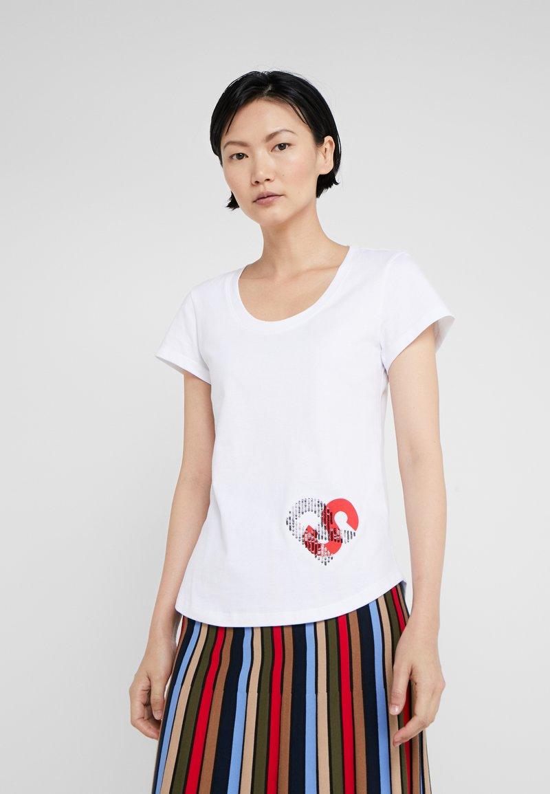 Sonia Rykiel - T-Shirt print - blanc casse