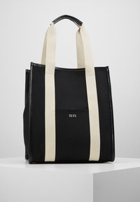 Sonia Rykiel - TOTE TOILE CHEVRON - Shopping Bag - noir - 0