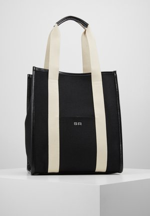 TOTE TOILE CHEVRON - Shopping Bag - noir