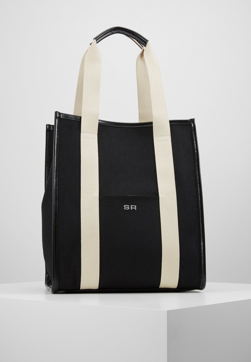Sonia Rykiel - TOTE TOILE CHEVRON - Shopping Bag - noir