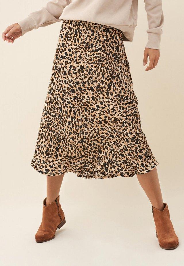 MEGAN - Pleated skirt - beige