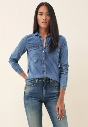 MAGDALENA - Button-down blouse - blue