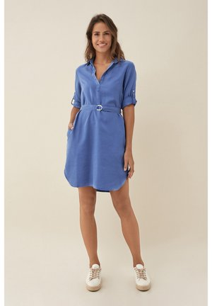 EUGENE - Shirt dress - blue