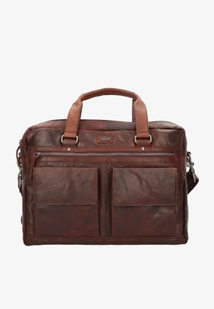 SPIKES & SPARROW AKTENTASCHE LEDER 41 CM LAPTOPFACH - Briefcase - darkbrown