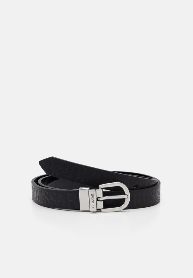 LOGO REGULAR BELT PATENT - Belt - black