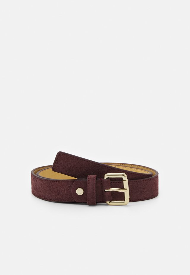 REGULAR LOGO BELT - Gürtel - dark red