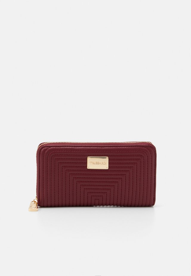 FRIDA QUILTED ZIP AROUND - Geldbörse - dark red