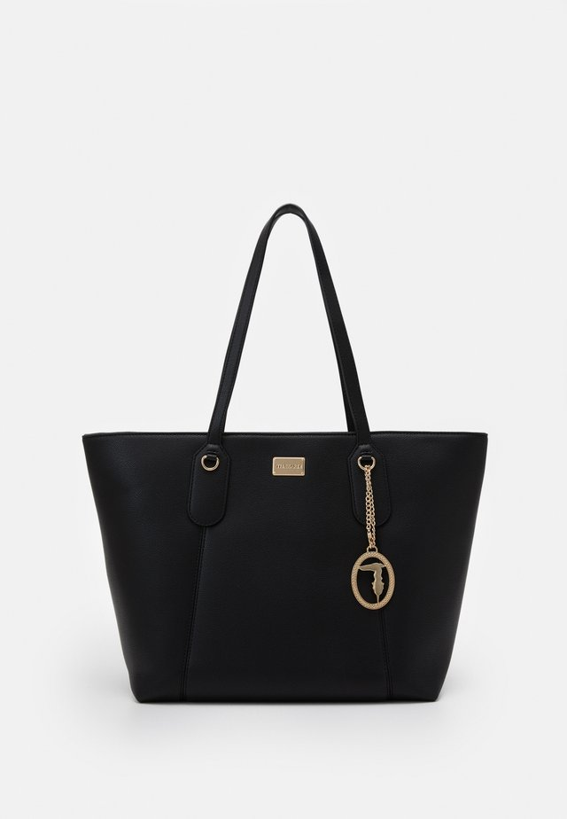 MONACO TUMBLED TOTE - Shopping Bag - black