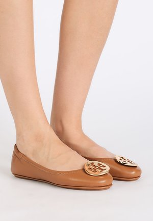 MINNIE TRAVEL - Ballerine - royal tan/gold