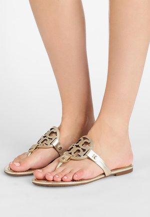MILLER - T-bar sandals - spark gold