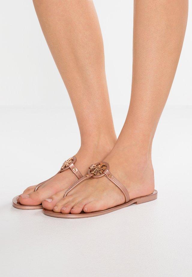 MINI MILLER FLAT THONG - Pool shoes - rose gold