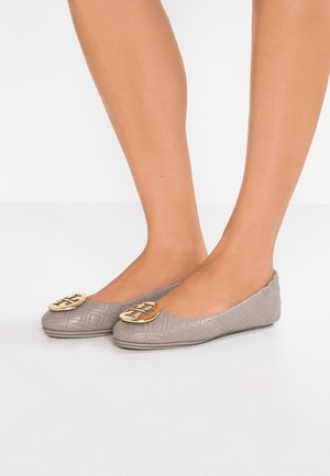 QUILTED MINNIE - Ballet pumps - dust storm/gold