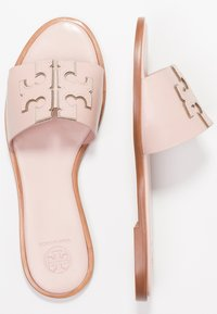 Tory Burch - INES SLIDE - Ciabattine - sea shell pink/silver - 3