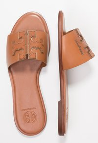 Tory Burch - INES SLIDE - Pantofle - tan/spark gold - 3