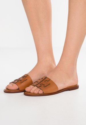 INES SLIDE - Pantofle - tan/spark gold